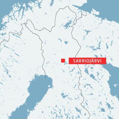 Sarriojärvi i Lappland