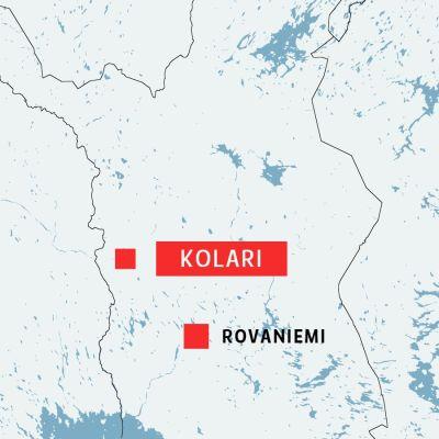 Karta över Kolar i Lappland.