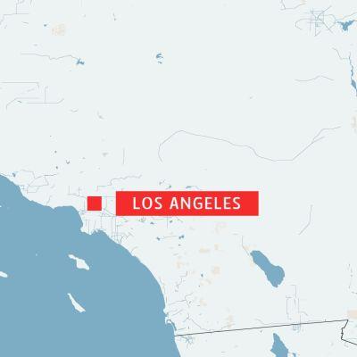 Karta över Los Angeles.