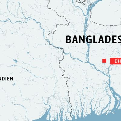 karta över Dhaka i Bangladesh.