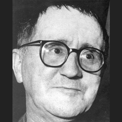 Kirjailija Berttolt Brecht.