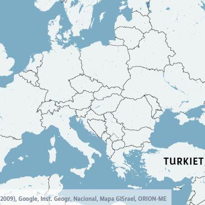 Karta över Turkiet och Diyarbakir