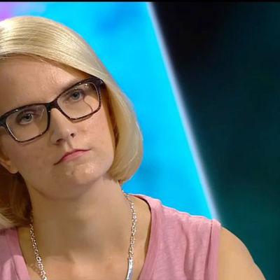 Kaisa Heikkilä talar om arbetslöshet