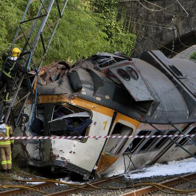 Tågolycka i Spanien