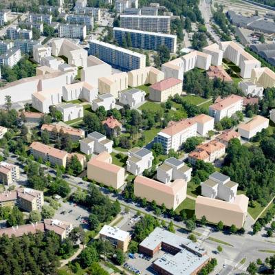 Planritning över forsby sjukhusområde