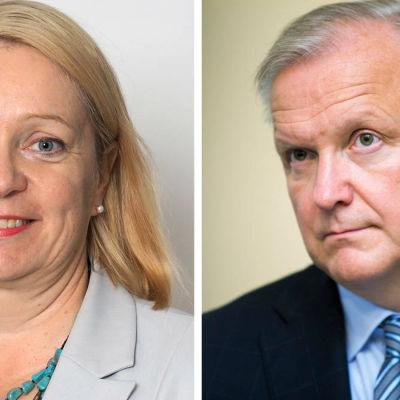 Olli Rehn och Marja Nykänen nya medlemmar i Finlands Banks direktion