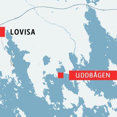 Karta över Lovisa