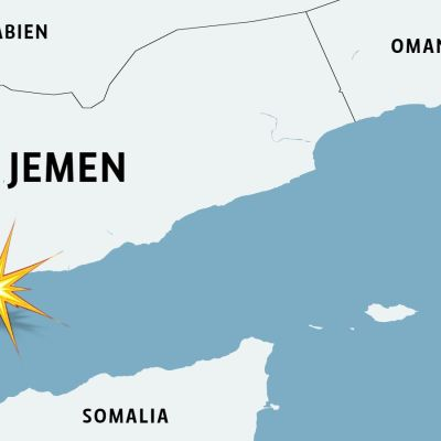 Karta över Jemen.