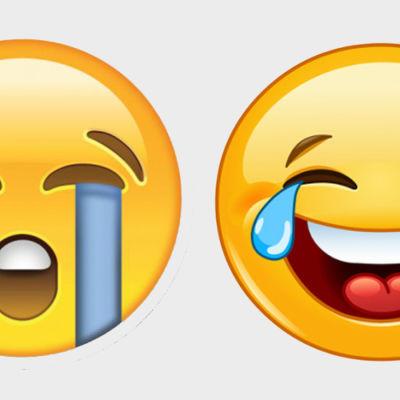 Naurava ja itkevä emoji