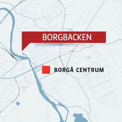 Karta över Borgbacken i Borgå