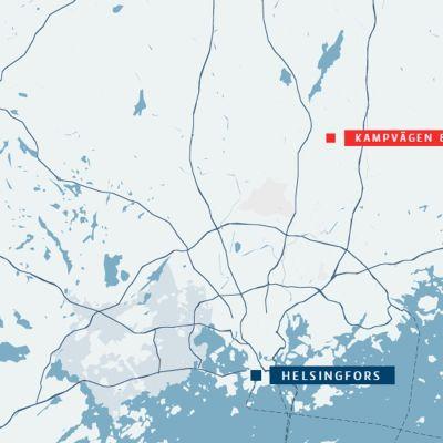 Kampvägen ligger i Korso i Vanda.