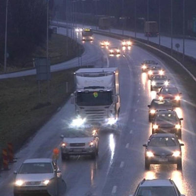Returtrafiken inför julfirandet som livligast 23.12.