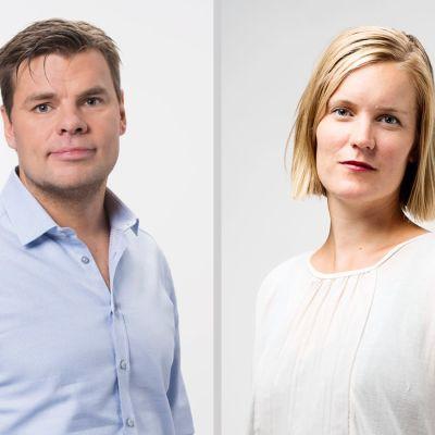 Ville Hupa och Marianne Sundholm.
