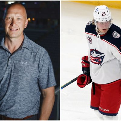 Jarmo Kekäläinen är klubbchef och Patrik Laine stjärnspelare i Columbus.