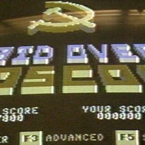 Raid over Moscow -videopelin aloitusruutu (1985)