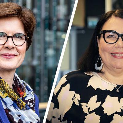 Susan Duinhoven ja Merja Ylä-Anttila