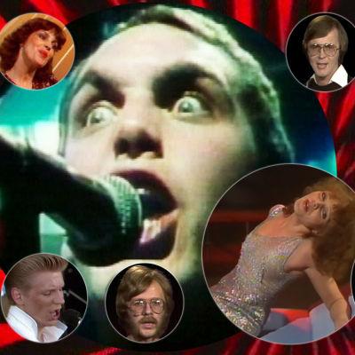 Kollaasi Iltatähden vuoden 1978 esiintyjistä.