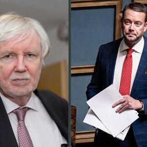 Erkki Tuomioja och Stefan Wallin i ett bildcollage.