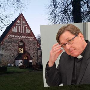 Helsinge kyrka Sankt Lars och kyrkoherde Martin Fagerudd.