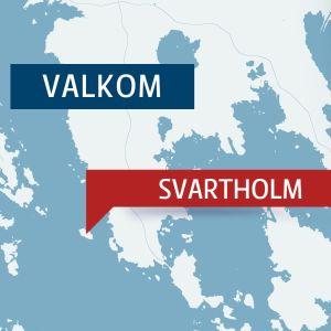 Karta över Svartholm och Valkom