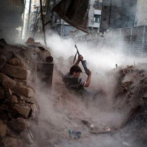 Niklas Meltion valokuva Syyrian sodasta (2013).