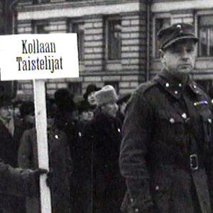 talvisodan sotilaita itsenäisyyspäivän paraatissa 1940