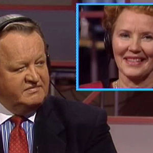 Martti Ahtisaari ja Eeva Ahtisaari Tuttu juttu -showssa vuonna1994.