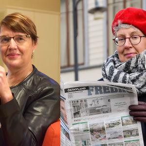 Bilden är ett montage av två bilder med personporträtt. Marina Holmberg till vänster och Helén Kurri till höger.