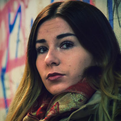 Rapartisten Linda-Maria Roine, alias Mercedes Bentso.