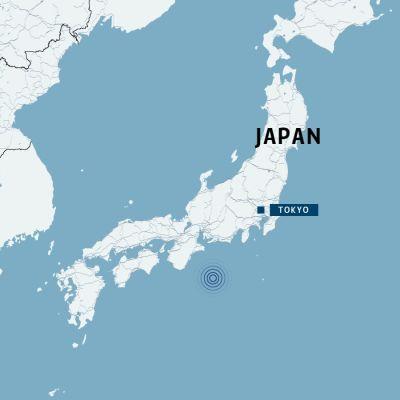 Karta på Japan.