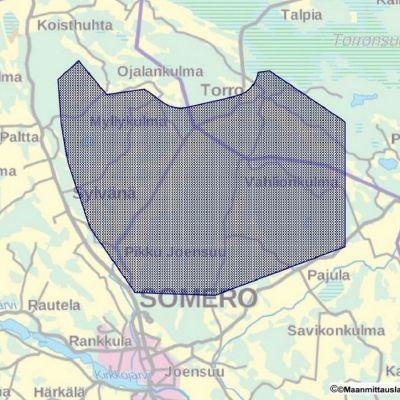 Karta över Finnkallio Oy:s förbehåll.