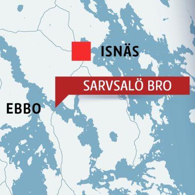 Karta över Isnäs, Ebbo och Sarvsalö