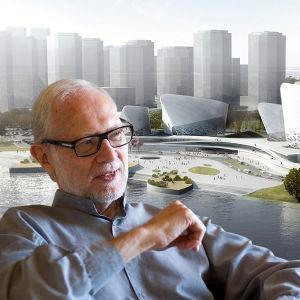 Arkkitehti Pekka Salminen ja Fuzhou taide- ja kulttuurikeskus