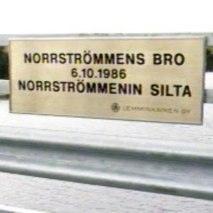 Invigning av Norrströmmens bro, Nagu, 1986