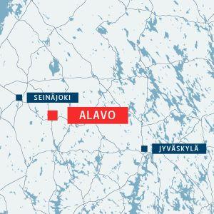 Karta som visar var Alavo ligger.