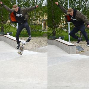 Sebastian Pihl i Pargas skatepark