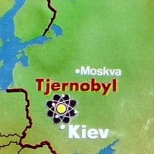 Karta Tjernobyl och Europa, 1986