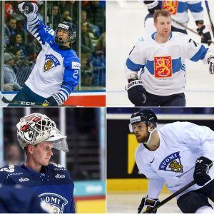 Oskar Osala, Anton Lundell, Leo Komarov, Tony Sund, Kevin Lankinen och Jani Hakanpää.