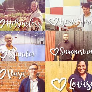 Personer som deltar i kampanjen Vega älskar Svenskfinland