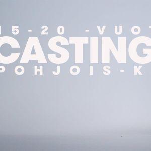 """Vaaleanharmaassa järvimaisemassa lukee isolla """"casting call""""."""