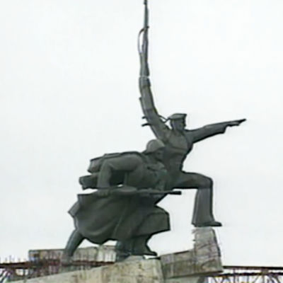 Neuvostoaikainen sotilaspatsas Sevastopolissa Krimillä.