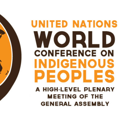 Loggotyp för United Nations World conference Indigenous peoples 2014