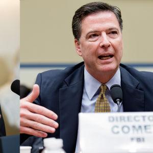 Bildmontage av två bilder: en föreställande barack Obama och en James Comey
