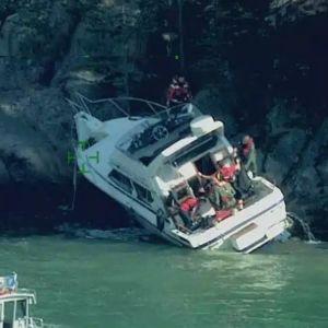 En person skadades i olyckan.