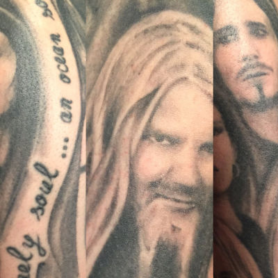 Saksalaisen Nightwish-fanin tatuointeja
