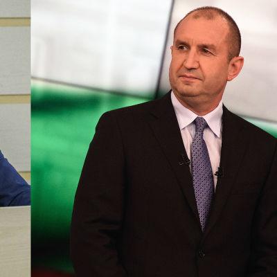 Igor Dodon till vänster, Rumen Radev till höger. Presidentkandidater i Moldavien respektive Bulgarien november 2016.