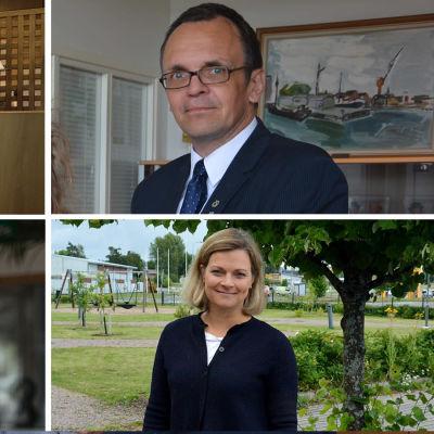 De fyra starkaste kommundirektörskandidaterna på Kimitoön.