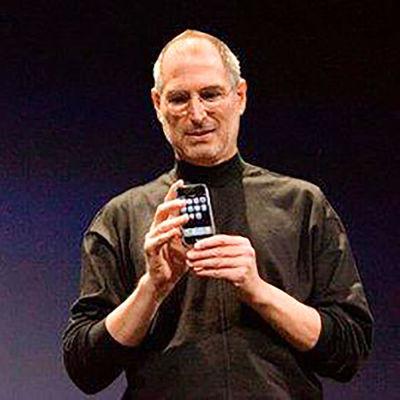 Steve Jobs Applen tiedotustilaisuudessa