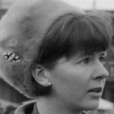 Nainen Kuopion torilla 1965.