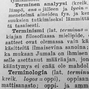 Ote sivistyssanakirjasta (Otava 1948).